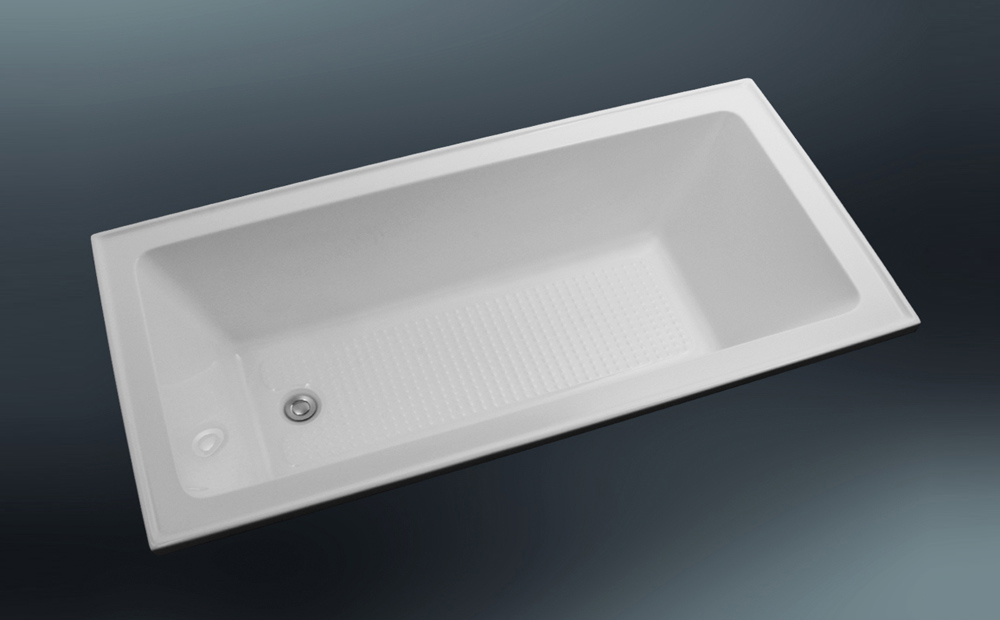 Deep 1500mm Drop-in Bath with Anti-Slip - paco jaanson